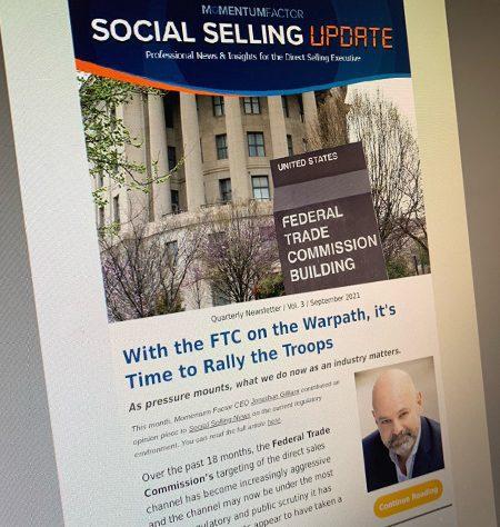 Momentum Factor Social Selling Update - Quarterly Newsletter